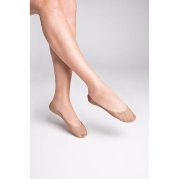 GABRIELLA Seamless cotton socks, size 39/41, beige color 1 pc