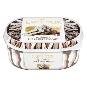 CARTE D'OR Les Desserts Chocolate coconut ice cream with coconut flakes and chocolate 900ml