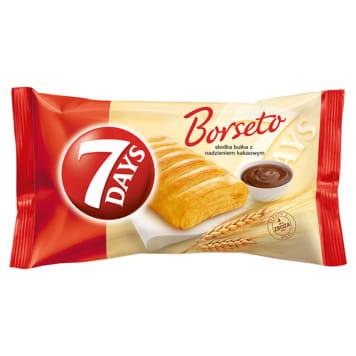 Bułka z nadzieniem kakaowym Borseto - 7 Days. Doskonały smak w pysznej bułce ze słodkim nadzieniem.