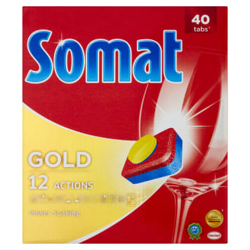SOMAT Gold Tablets for washing dishes in dishwashers 40 items 1pc