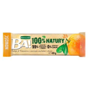 BAKALLAND BA! Baton dates & orange with roasted peanuts and cereal 40g