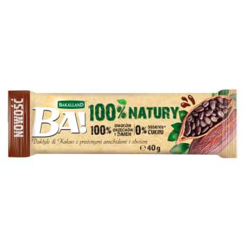 BAKALLAND BA! Baton fruity dates & cocoa with roasted peanuts and cereal 40g