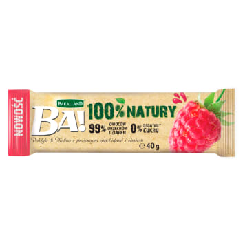 BAKALLAND BA! Batter dates & raspberry with roasted peanuts and cereal 40 g