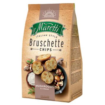 Bruschetta z grzybami w śmietanie MARETTI 70g - chrupiące, smaczne i zdrowe grzanki.