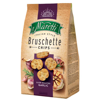 Brushetta z pieczonym czosnkiem - Maretti. Doskonała jakość i intensywny smak prosto z Włoch.