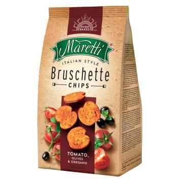 Bruschetta z pomidorami i oliwą 70 g – Maretti. Włoskie pieczywo z solą morską.