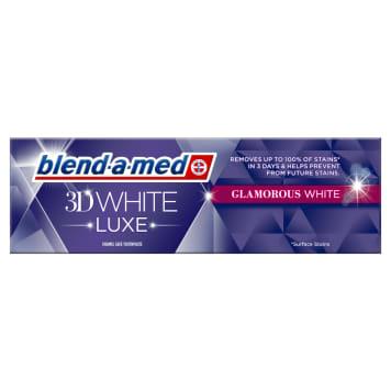 Pasta wybielająca White Luxe Glamour Blend-A-Med pomaga zapobiegać ponownym przebarwieniom.