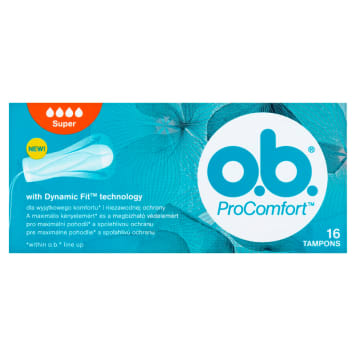 O.B.® ProComfort Tampons Super 16 1 pc