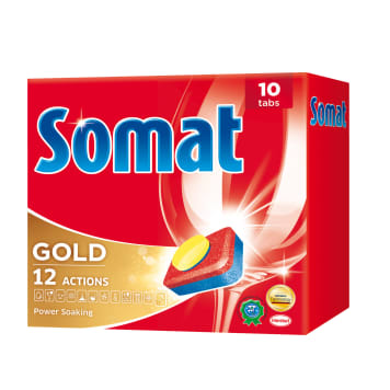 SOMAT Gold Tablets for dishwashers, 10 items 1pc