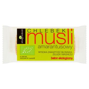 Chlebek musli amarantusowy Bio - batonik - Eko Produkt. Lekki i zdrowy batonik.