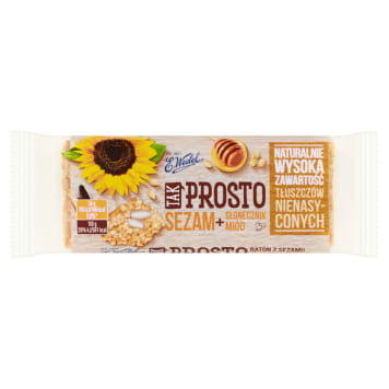 WEDEL Tak Prosto Sesame bar with sunflower and honey 36 g