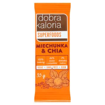 DOBRA KALORIA Superfoods Baton owocowy miechunka & chia 35g