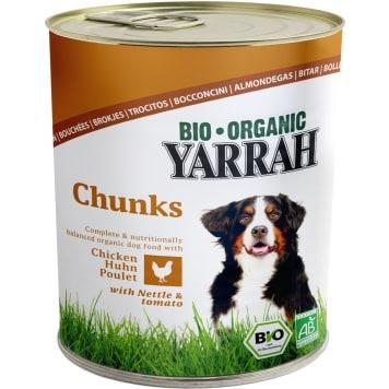 YARRAH Pokarm dla psa kurczak z pokrzywą i pomidorem BIO 820g