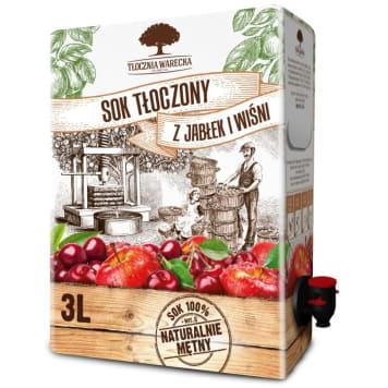 TŁOCZNIA WARECKA Juice pressed from apples and cherries 3l