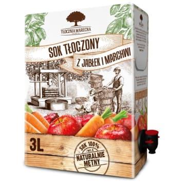 TŁOCZNIA WARECKA Juice pressed from apples and carrots 3l