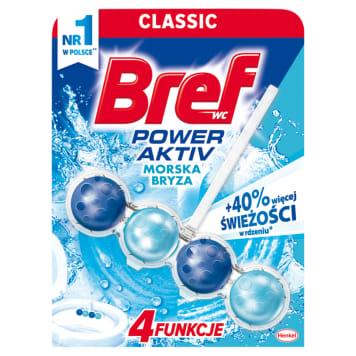 Bref Power Aktiv - Zawieszka do WC - Ocean. Gwarantowana świeżość łazienki przez długi czas.
