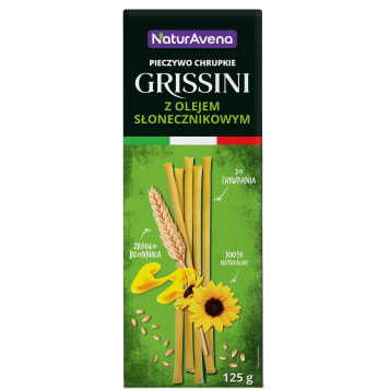 NATURAVENA Grissini Crispbread with sunflower oil 125g