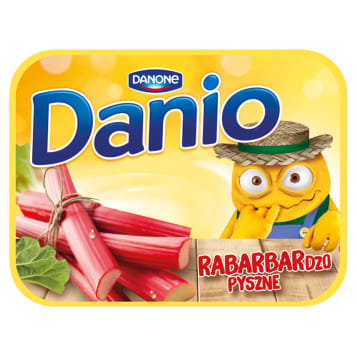 DANONE DANIO The cheese is homogenized with rhubarb 125 g