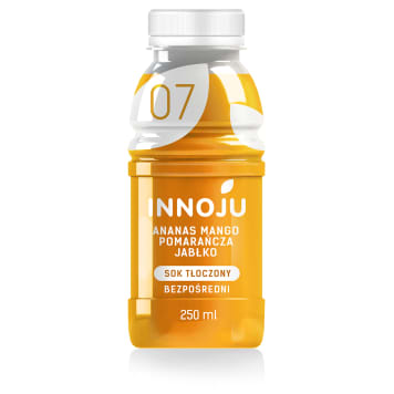 INNOJU Natural, cloudy juice 100% from apples, orange, pineapple and ma 250 ml