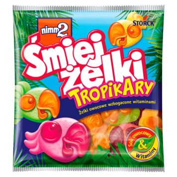 NIMM2 Śmiejżelki Tropical fruit flavors enriched with vitamins 90g