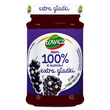 ŁOWICZ 100% z owoców Dżem extra gładki jeżyna czarna porzeczka 235g