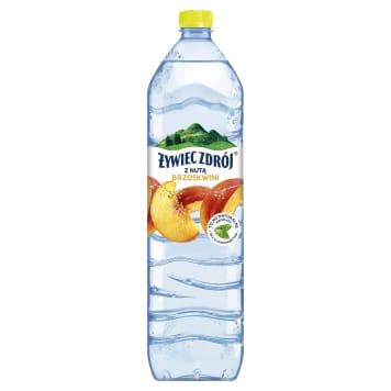 Napój niegazowany brzoskwiniowy- Żywiec Zdrój. Woda niegazowana wzbogacona smakiem brzoskwini.