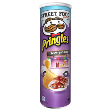 PRINGLES Street Food Chips Spicy BBQ Ribs 190g