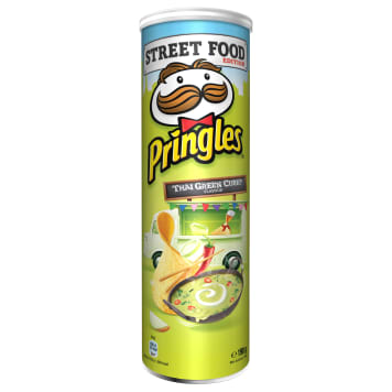 PRINGLES Street Food Chips Thai Green Curry 190g