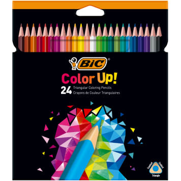 BIC Color Up! Triangular pencil crayons 24 colors 1pc
