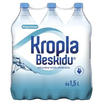 KROPLA BESKIDU Naturalna woda mineralna niegazowana 6x1,5l 9l