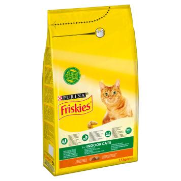 Sucha karma dla kotów z mięsem i warzywami – Frieskies jest wygodna w dozowaniu.