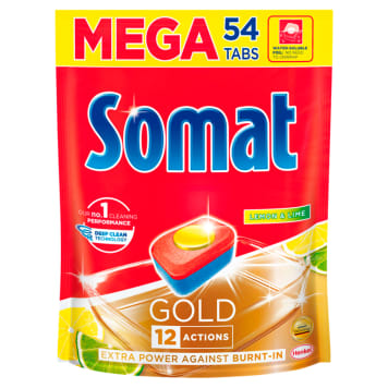 SOMAT Gold Tablets for washing dishes in dishwashers Lemon & Lime 54 pcs 1pc