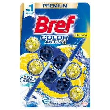 BREF Color Aktiv Zawieszka do WC - Cytryna 2x50g 1szt