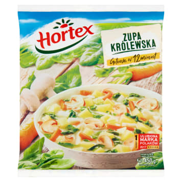 Zupa królewska mrożona - Hortex pozwoli szybko przygotować zdrową zupę.