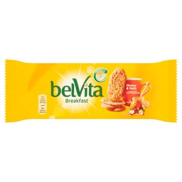 Belvita -  Ciastka zbożowe z orzechami laskowymi i czekoladą. Pyszna i zdrowa przekąska.