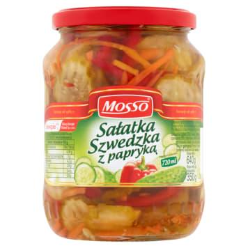 Sałatka szwedzka z papryką Mosso to chrupiące warzywa w zalewie octowej.