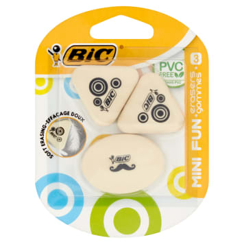 BIC Eraser for erasing 3 pcs 1 pc