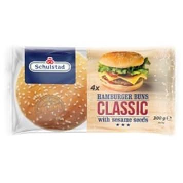 SCHULSTAD Hamburger Buns Classic z sezamem 4 szt 300g