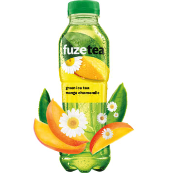 FUZETEA A mango-flavored drink with green tea and chamomile extract 500ml