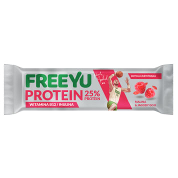 FREEYU PROTEIN Baton of raspberry + goy with inulin 40g