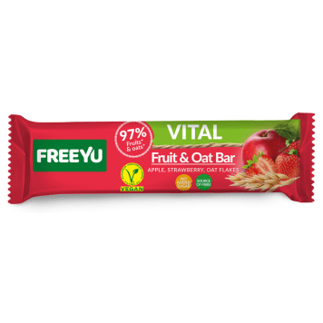 FREEYU VITAL Apple and strawberry bar with oatmeal 40g