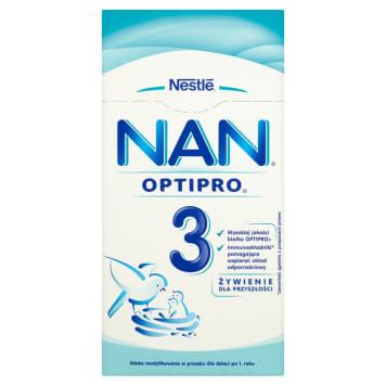 Mleko dla niemowląt NAN 3 - NESTLÉ. Zawiera niezbędne wartości odżywcze i witaminy.