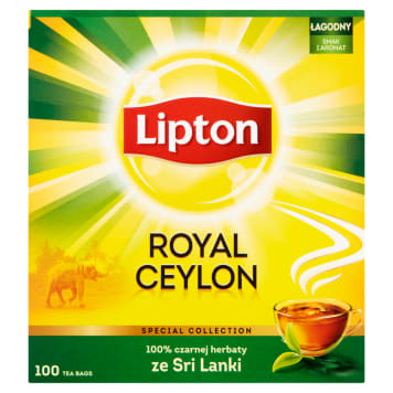 LIPTON ROYAL CEYLON Black tea 100 bags 200 g