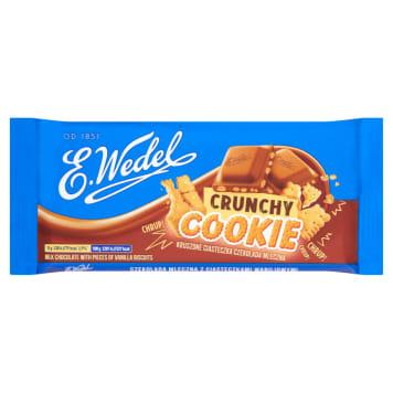 WEDEL Crunchy Cookie Czekolada mleczna z waniliowymi ciasteczkami 90g