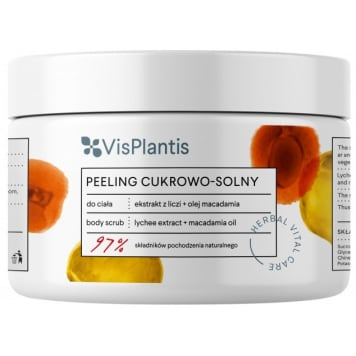VIS PLANTIS Sugar and salt peeling. Litchi extract + Macadamia oil 200 ml
