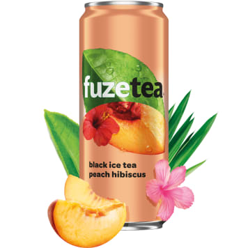 FUZETEA A peach-flavored drink with black tea and hibiscus extract 330ml