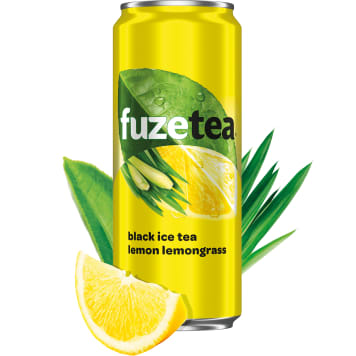FUZETEA A lemon-flavored drink with black tea extract and lemongrass 330 ml