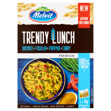MELVIT Premium Trendy Lunch Basmati beans curry peppers (4 x 80 g) 320g