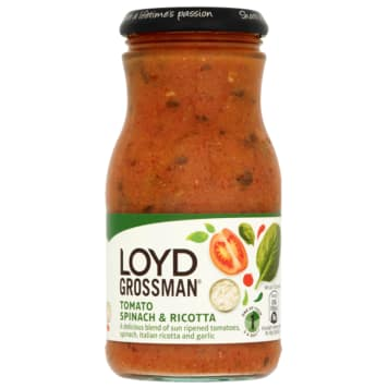 LOYD GROSSMAN Tomato sauce with spinach and ricotta 350g