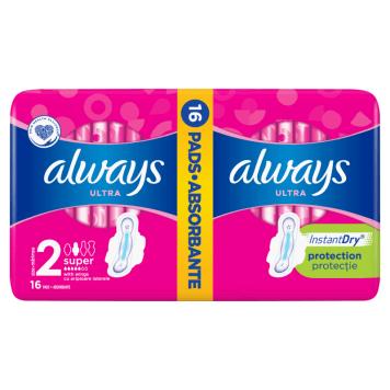 Podpaski-Always Ultra Super Plus Duo Pack to innowacyjne podpaski z 4 skrzydełkami.